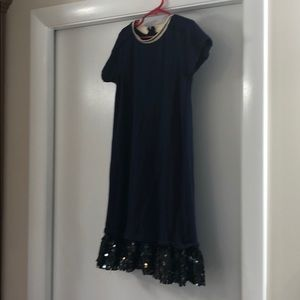 Crewcuts navy sparkly dress size 8